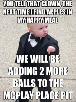 baby meme funny mcdonalds happy meal