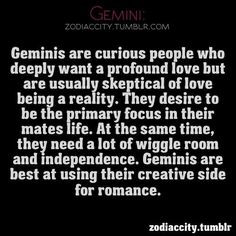 Gemini - we contradict our selfs basically. We want to be the only ...