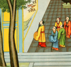 Confucius Explains the Meaning of a Mural to His Disciples