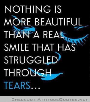 real smile...