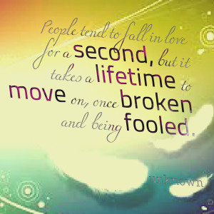 Quotes Picture: people tend to fall in love for a second, but it takes ...