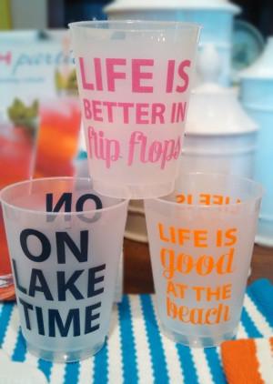 Frost Flex Cups in fun summertime sayings ☀CQ #summerFlex Cups ...