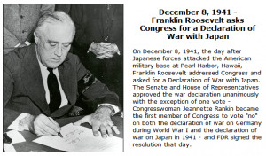 ... Franklin Delano Roosevelt's Pearl Harbor radio address to the American