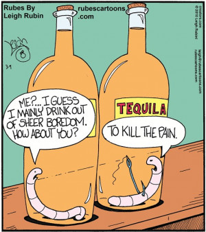Tequila Funny Cartoon Tequila