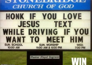 people often say that going to church has to be taken with seriousness ...
