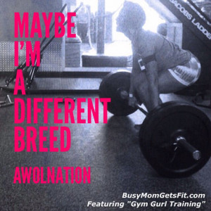 Maybe I'm a different breed #sail #quote #awolnation #workout #fitness ...