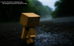 ... found a companion as companionable as solitude.