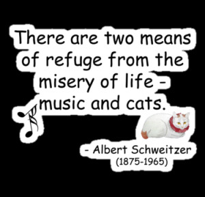 ... › Portfolio › Music and Japanese Cat Art Quote T-Shirt
