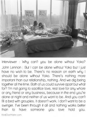 john lennon + yoko ono #bed #peace: Yoko Ono, Ono Bedpeac, Quotes ...