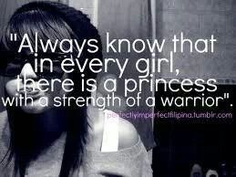 Princess with the strength of a warrior