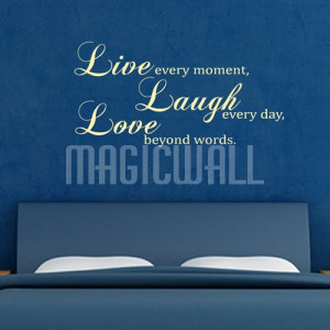 Home » Live Laugh Love - Wall Quotes - Wall Decals Stickers