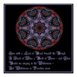 Omar Khayyam - Love Quote Poster