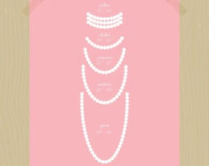 ... Pearl Print Opera Pearls Pearl Collar Girl Bedroom Decor Jewelry Print