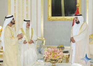 Sheikh Khalifa, Sheikh Mohammed and Sheikh Hamad