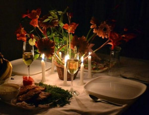 Mussoorie, India: Candle Light Dinner