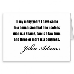 Political quotes by John Adams Cards