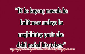 Tagalog Long Distance Relationship Quotes