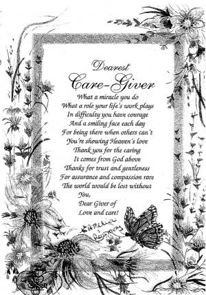 Caregiver's Poem