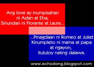 Ang LOVE ay itutuloy nating dawala - Tagalog Love Quotes