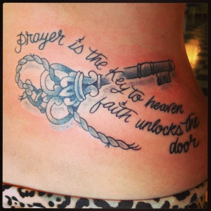 Key Tattoos With Quotes Skeletonkey, prayer tattoo