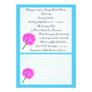 Bridal Shower Recipe Cards for your Engagement Party, Wedding Shower