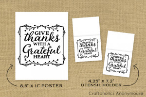 Thanksgiving Free printables. Print out the decor size or Utensil ...