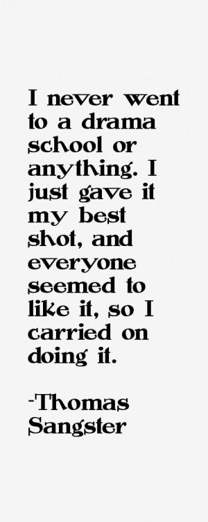 Thomas Sangster Quotes & Sayings