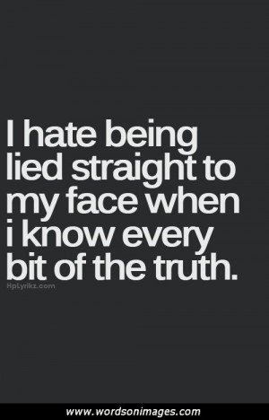 quotes about liars and players