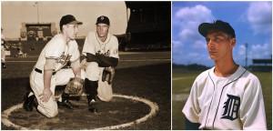 With Bob Feller, September 24, 1946.