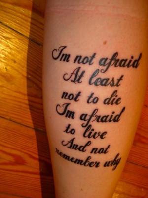 Beautiful Song Lyric Tattoos « Read Less
