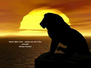 Fighting lions motivational inspirational love life quotes sayings ...