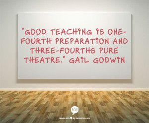 ... is one-fourth preparation and three-fourths pure theatre.