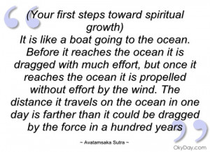 your first steps toward spiritual growth)