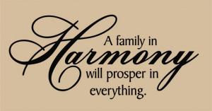Catalog > Family in Harmony, Family Wall Art Decal