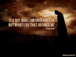 Quote from Batman Begin (Inspiraday)