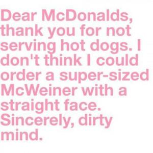 Dear Mcdonalds