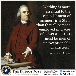 Quote: Samuel Adams on Character