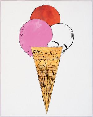 Warhol Prints, Artists, Andy Warhol Icecream, Cream Prints, Cute ...