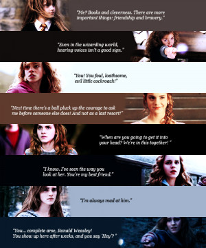 Hermione Granger Hermione Jean Granger (favorite movie quotes)