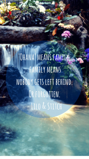 Ohana Means Family Quote iPhone5 Wallpaper