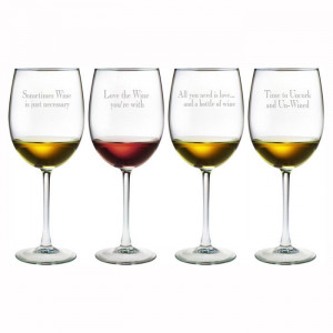 Wine Glasses with Cute Sayings.Favorite Vintage, Red Wine, Glasses ...