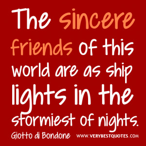friendship quotes, The sincere friends quotes