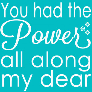 You Had the Power All Along My Daer- Wizard of Oz Quote and Free ...