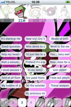 Invader Zim Gir Quotes