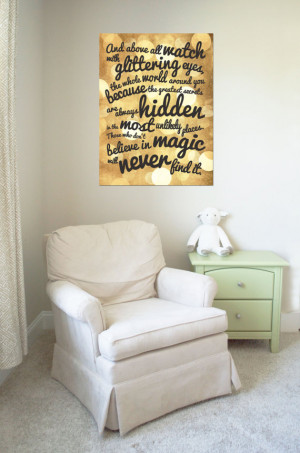 Typography Canvas Art: Believe in Magic Roald Dahl Quote (Available in ...