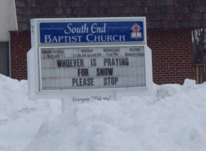 Yep, snow has nothing to do with nature. I guess all the people living ...