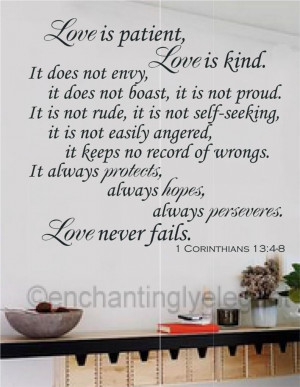 Details about Love Is Patient Love Is Kind Bible Verse Vinyl Decal ...