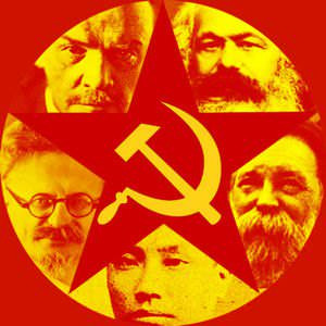 Hammer, sickle and the red star are universal symbols of communism ...
