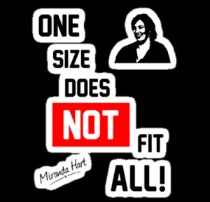 4ogo Design › Portfolio › One Size Does NOT Fit All - Miranda Hart ...