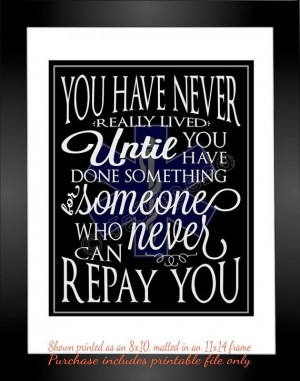 Art Decor Thank You Gift - This is one of my favorite quotes:
